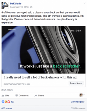 jokes can be a great facebook ad for crowdfunding idea