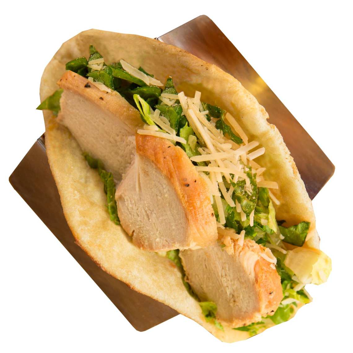Crushed Red Chicken Caesar Folded Flat