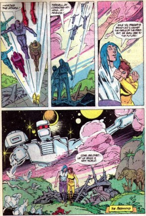 The Rom finale, from issue #75. Pencils by Steve Ditko, finishes by P. Craig Russell.