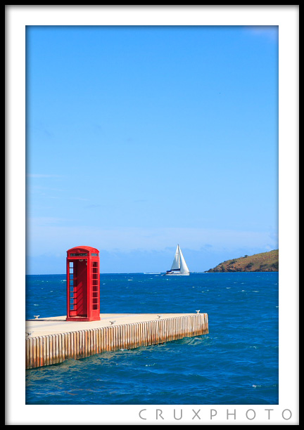 A lone phone booth near the Bitter End in the British Virgin Islands. Copyright Nate Young and Crux Photo.