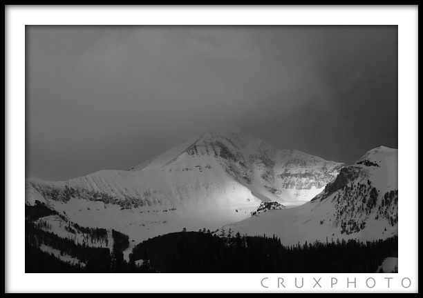 Lone Mountain, Montana.  Copyright Nate Young and Crux Photo.