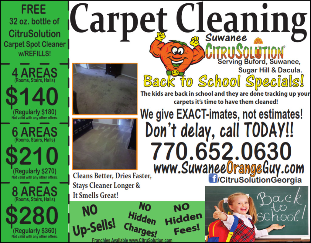 Atlanta Carpet Cleaning Specials