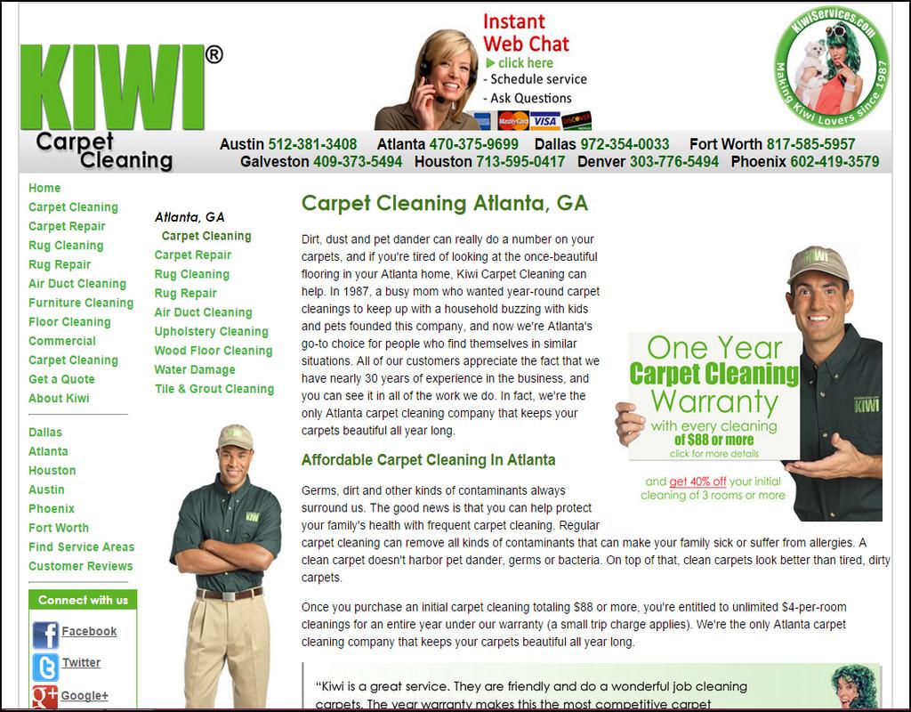 Kiwi Carpet Cleaning Houston
