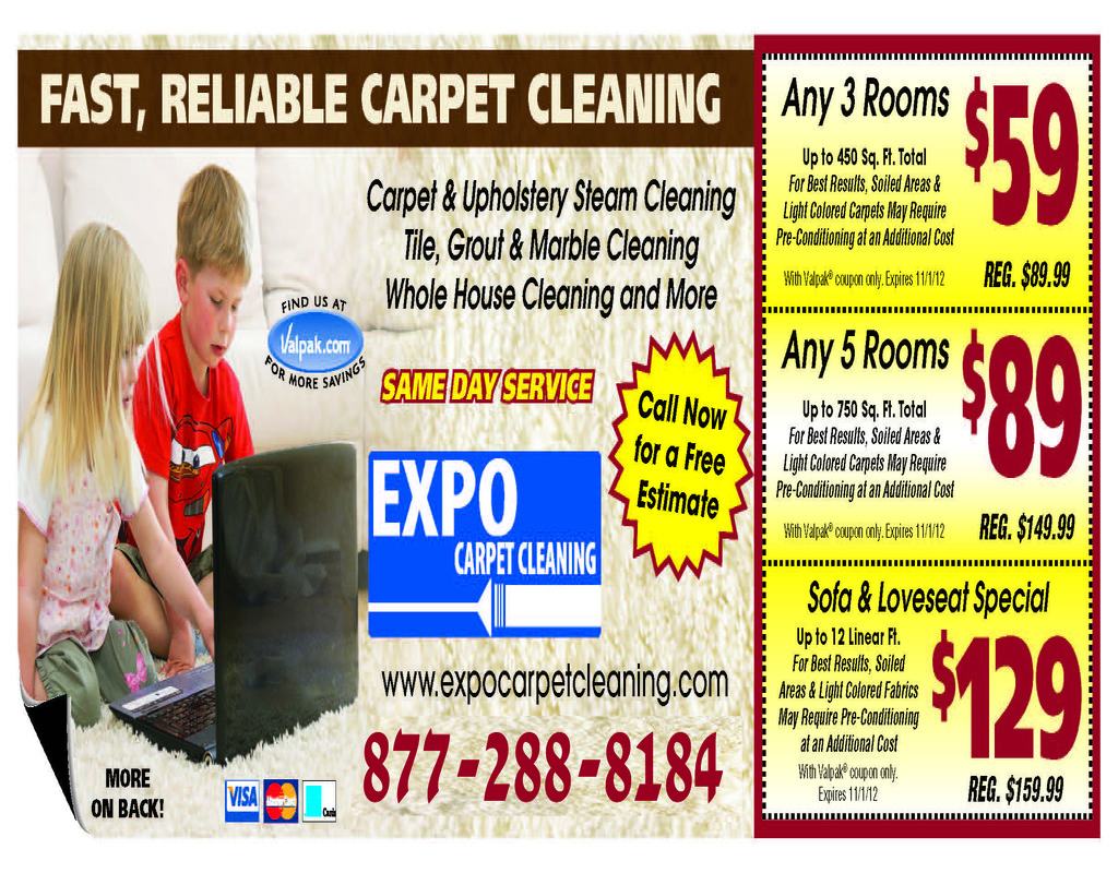Whole House Carpet Cleaning Specials