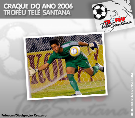 Fábio é o craque do ano do Troféu Telê Santana 2006