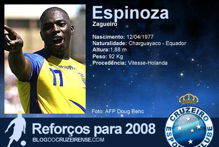 Reforços para 2008: Giovanny Espinoza