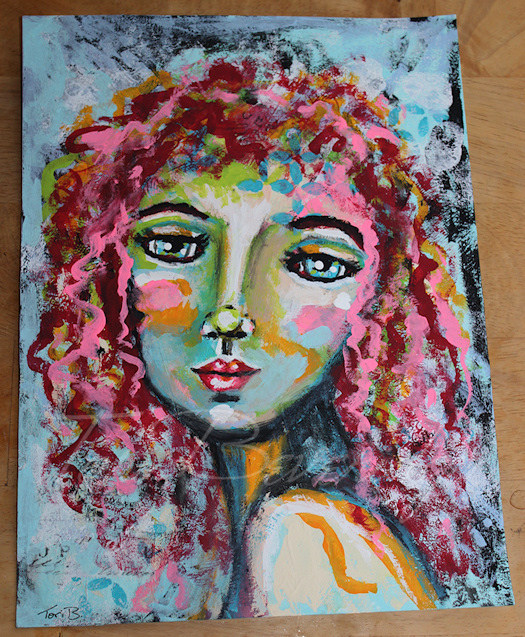 Face 1 Painting by Tori Beveridge