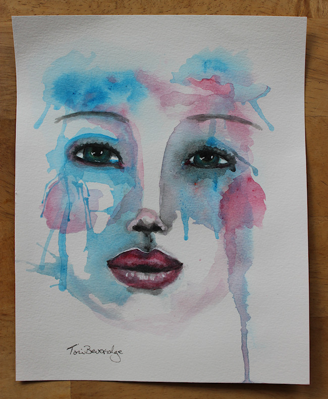 30 in 30 day 8 drippy face by tori beveridge