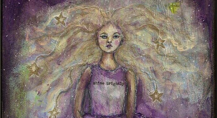 Close up of Shine Brightly by Tori Beveridge