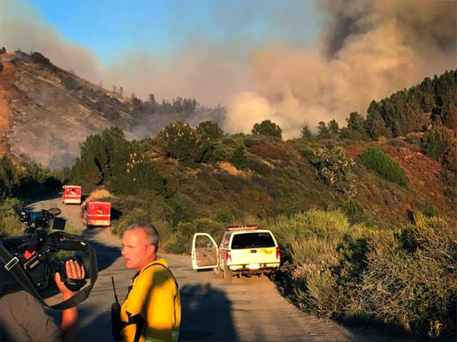 Loma Fire road block September 27th