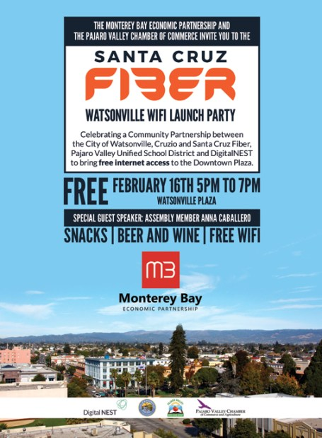 Come join us as we launch free WiFi in Watsonville Plaza