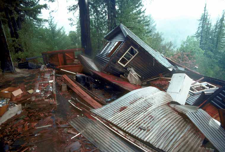 Santa Cruz Mountains earthquake damage in 1989