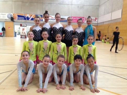 Conjunt Aleví, conjunt infantil, conjunt aleví del CRSant Sadurní i la gimnasta Aràlia Òdena