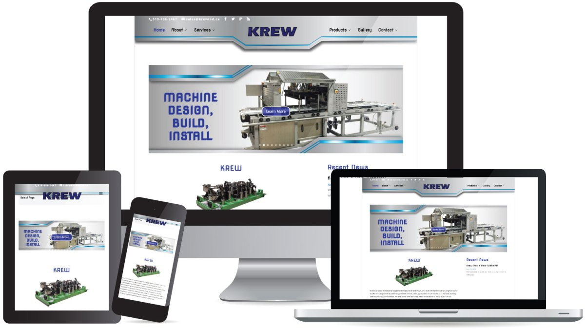 CryoDragon (Kitchener Waterloo Cambridge) Website Design Krew Industrial