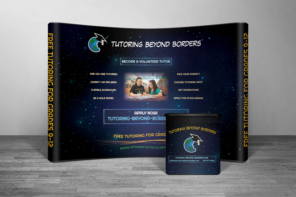 CryoDragon Trade Show Booth Design (Waterloo Kitchener Cambridge Guelph) Tutoring Beyond Borders 2018
