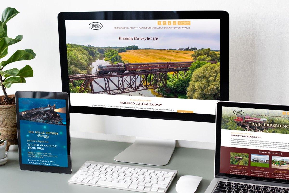 CryoDragon Kitchener Waterloo Website Design Waterloo Central Railway
