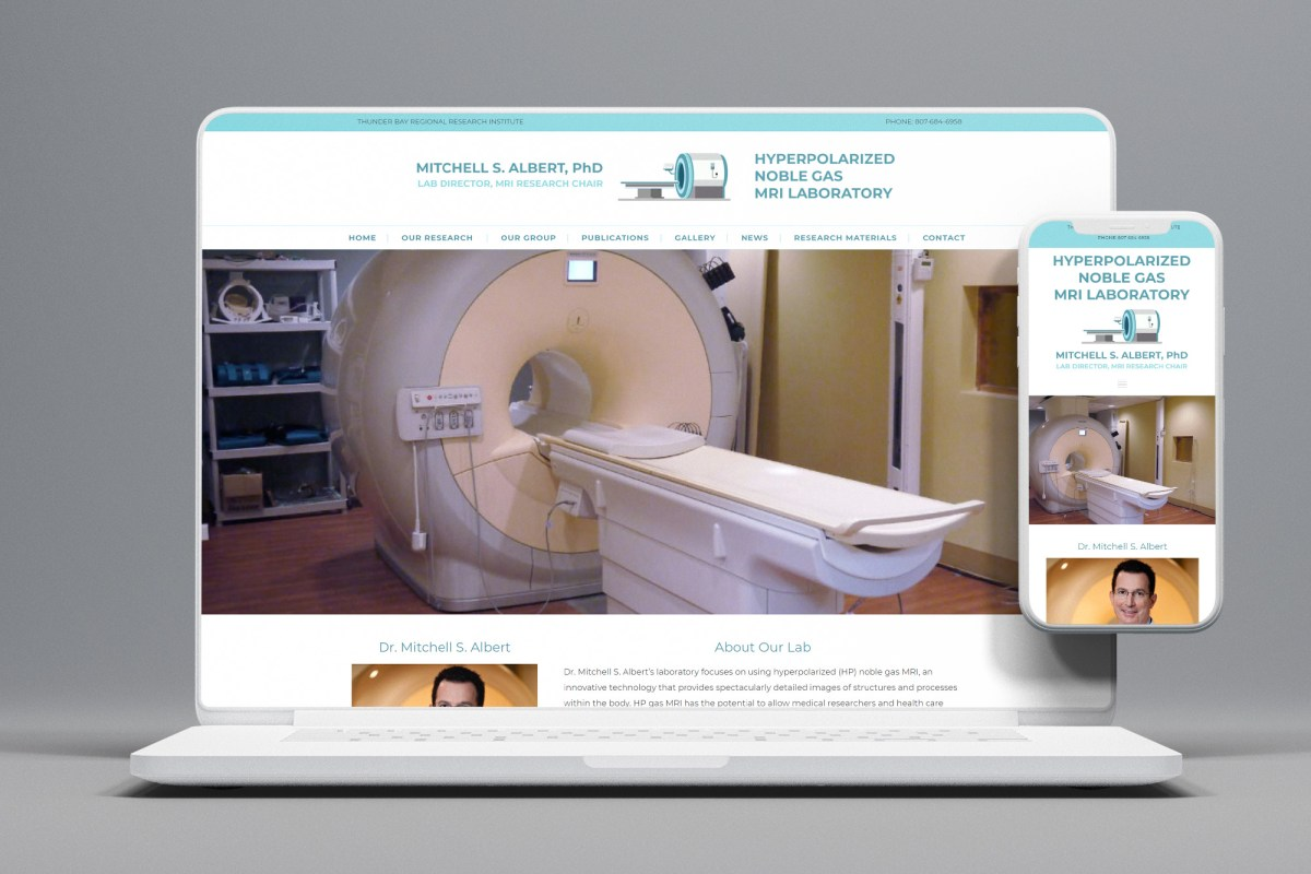 CryoDragon Ontario Website Design - HP Gas MRI Lab