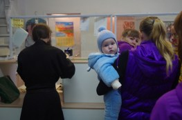 A scene at the post office in the Solovki Islands in Russia's White Sea.