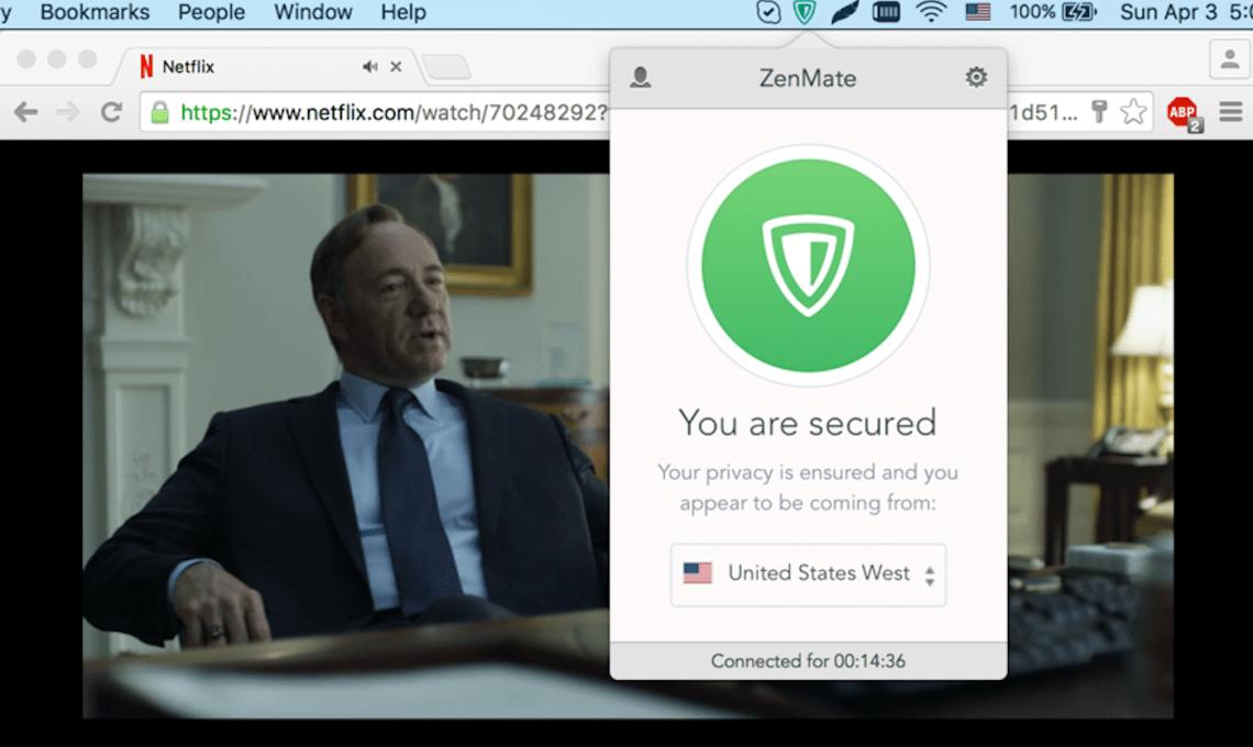 Unblock Netflix with ZenMate VPN