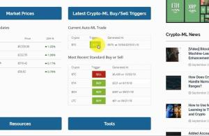 Crypto-ML Demo Screenshot