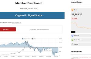 Crypto-ML Free Member Dashboard