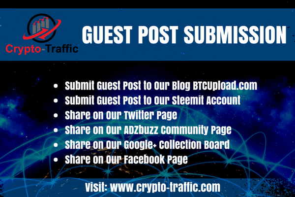 Guest Post or Press Release Submission - Crypto-Traffic