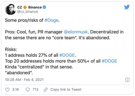 binance dogecoin