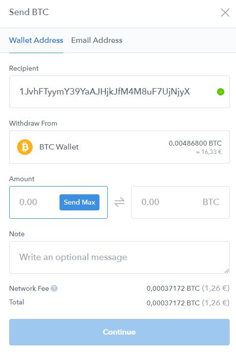 coinbase btc rate