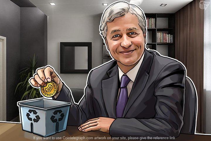 """الرئيس التنفيذي لشركة جي بي مورجان جيمي ديمون ينتقد البيتكوين من جديد ،يدعو العملات الرقمية """"عملية احتيال"""""""
