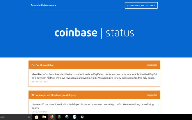 Coinbase Having Problems With PayPal