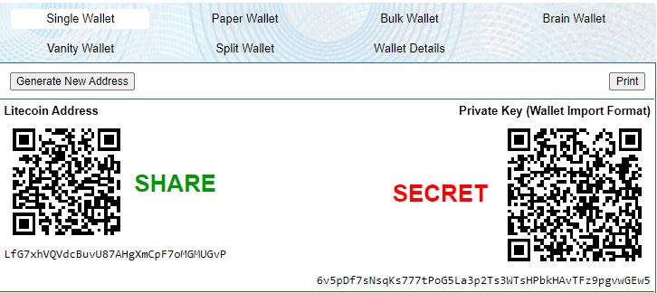 ltc paper wallet