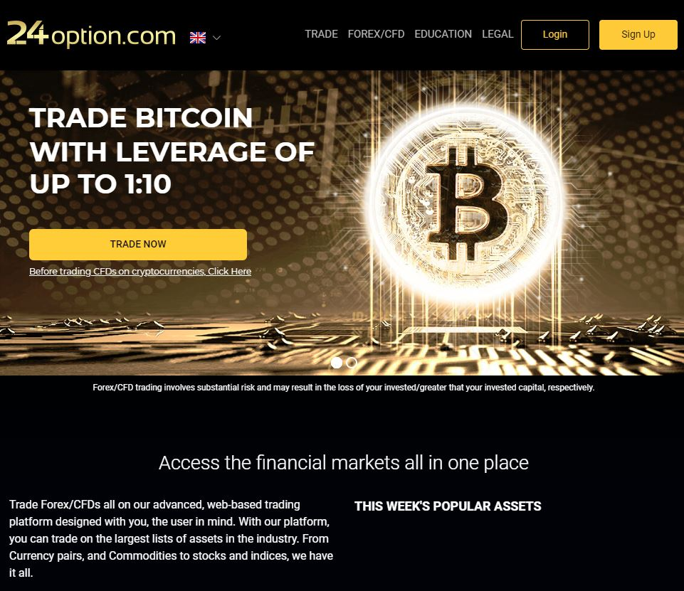 24option cryptocurrency trading