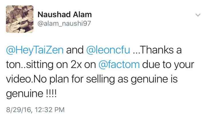 Leon Fu - Sitting on 2X with Factom