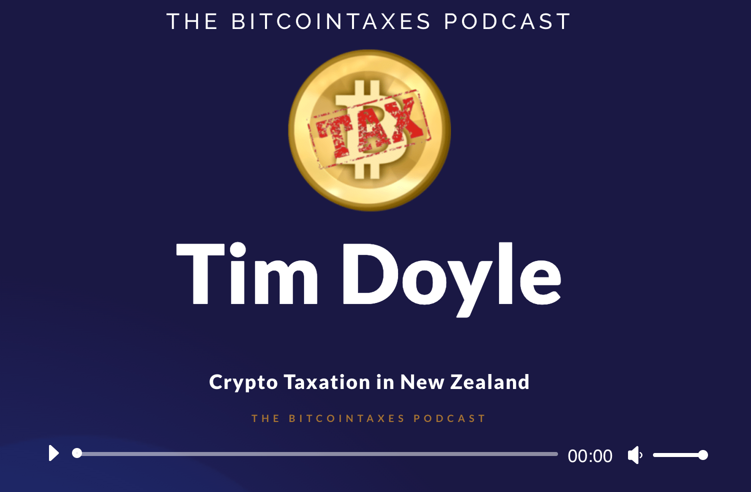 Crypto taxation in new zealand podcast Tim Doyle