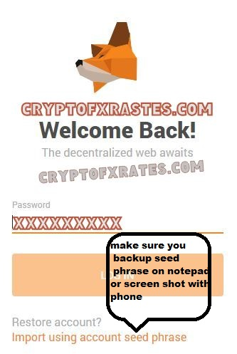 Backup MetaMask Acount Phrase on Notepad and email