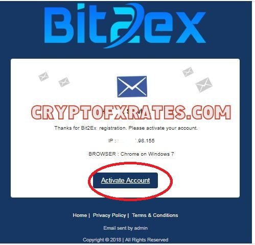 how to verify Bit2ex Exchange