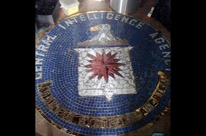 Tile Mosaic Replica of CIA Emblem On Floor of Brian Alexik's Apartment