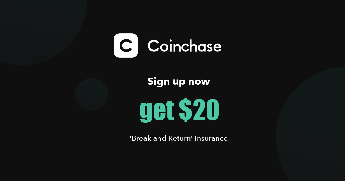 Register Coinchase To Get 0.101 ETH Free Worth $20
