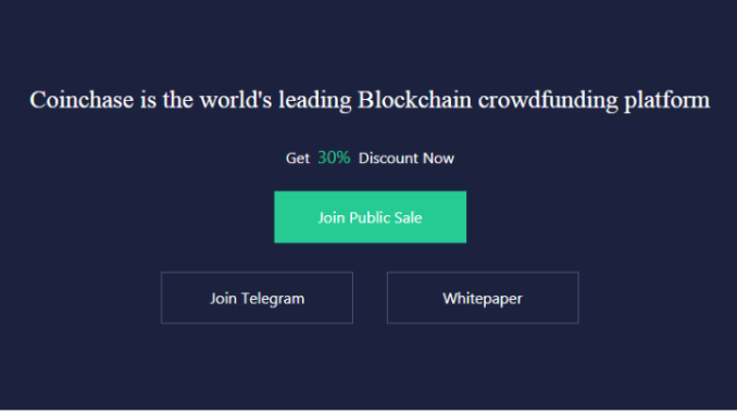 Coinchase Is Opening Public Sale With 30% Bonus