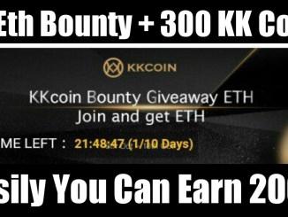 Register KKCoin Exchange Bounty Get ETH & KK Coins Free