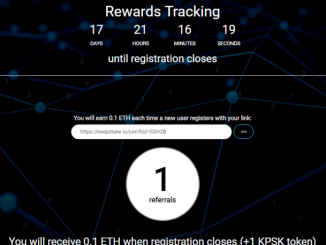 Register KeepStake To Get KPSK Tokens Free Worth 1 ETH
