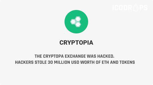 The Cryptopia Exchange Was Hacked - Hackers Stole $30 Million Worth Of ETH And Tokens
