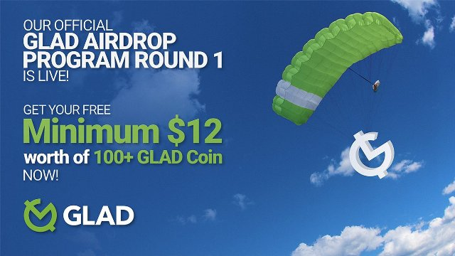 Glad Crypto Airdrop Tutorial - Earn 100 GLAD Tokens Free - Worth The $10