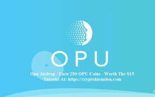 Opu Crypto Airdrop Tutorial – Earn 250 OPU Coins Free – Worth The $15