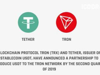 Tron And Tether Partner To Issue USDT On The Tron Network By Q2 2019
