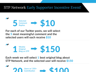 STP Network Early Supporter Incentive Event - Each Week Of Winner Will Get Up To $150
