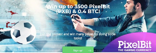 Pixelbit Airdrop Bitcoin And PXB Token - Win Up To 0.4 BTC And 3,500 PXB Tokens