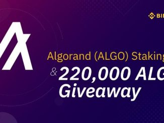 Binance Has Supported Algorand Staking - Airdrop 220,000 ALGO Initial Staking Reward