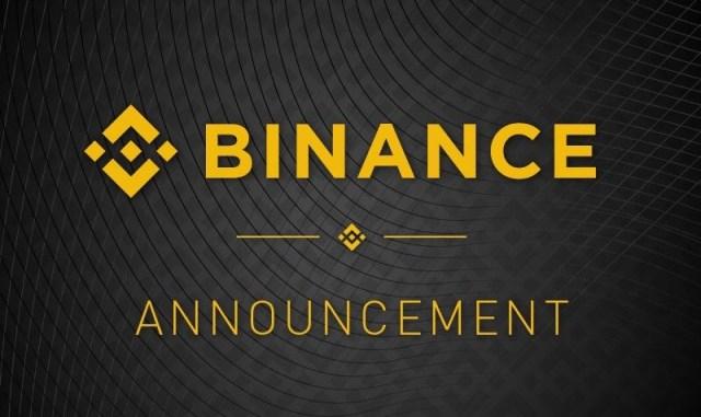 Binance Important Announcement