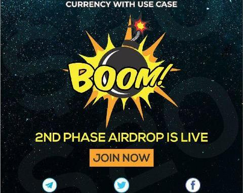 Boom Airdrop BOOM Token - Earn Free 20 BOOM Tokens - Worth The $20